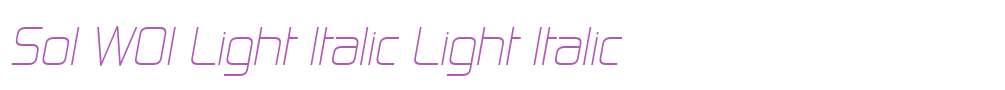 Sol W01 Light Italic