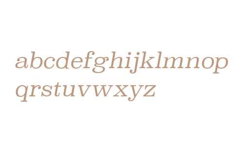 Superclarendon W00 Light Italic