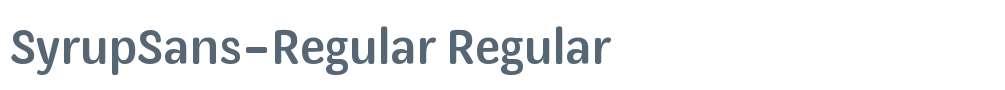 SyrupSans-Regular