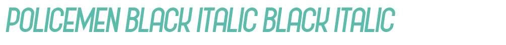Policemen Black Italic