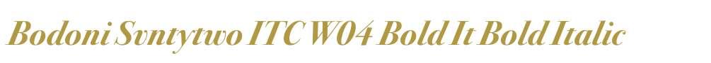 Bodoni Svntytwo ITC W04 Bold It