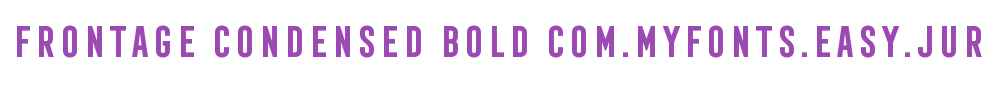 Frontage Condensed Bold