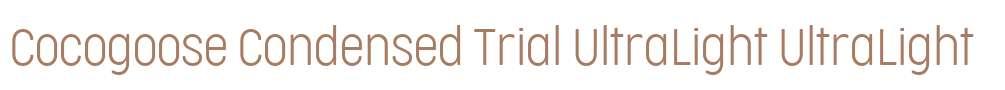 Cocogoose Condensed Trial UltraLight