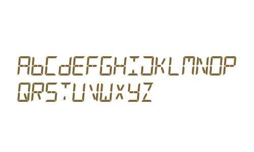 Digital Counter 7 Italic V2