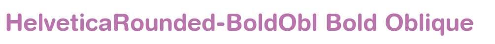 HelveticaRounded-BoldObl