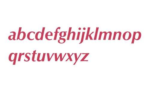 Optima* Bold Italic