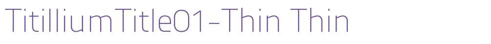 TitilliumTitle01-Thin