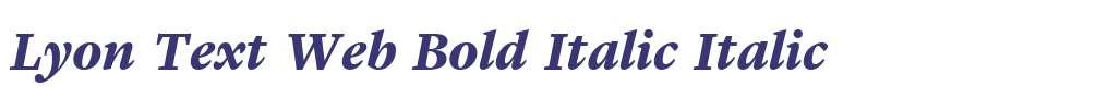 Lyon Text Web Bold Italic