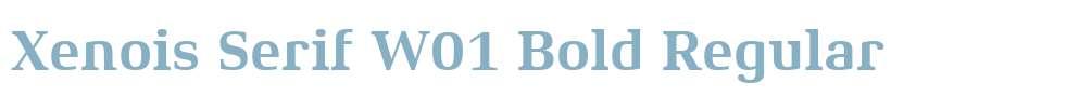 Xenois Serif W01 Bold