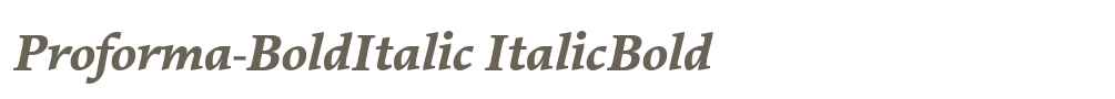 Proforma-BoldItalic