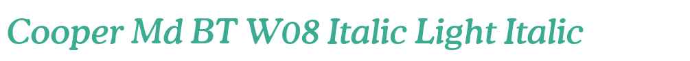 Cooper Md BT W08 Italic