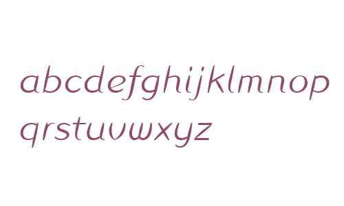 Linotype Inagur Light Italic