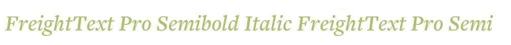 FreightText Pro Semibold Italic
