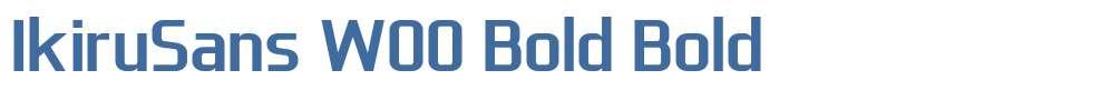 IkiruSans W00 Bold