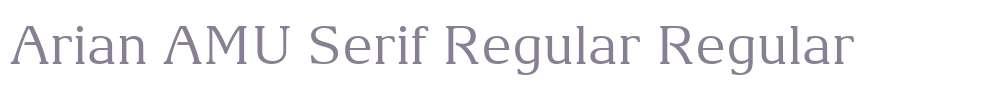 Arian AMU Serif Regular