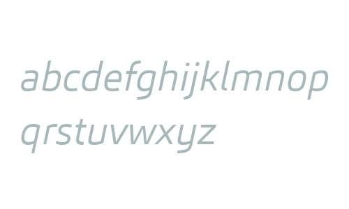 Carnac W03 Light Italic