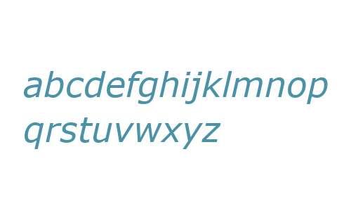 Verdana Italic