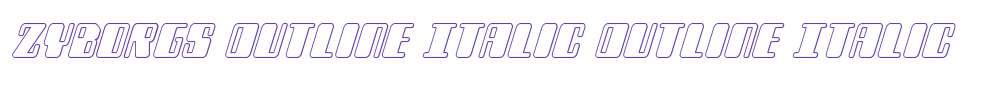 Zyborgs Outline Italic