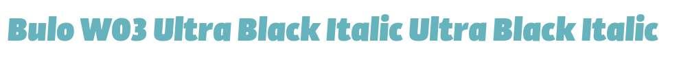 Bulo W03 Ultra Black Italic