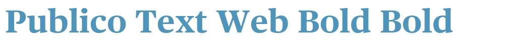 Publico Text Web Bold