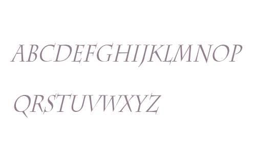 Chaz Thin Italic