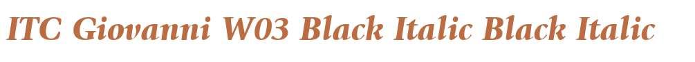ITC Giovanni W03 Black Italic