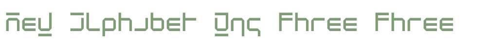 New Alphabet W95 Three