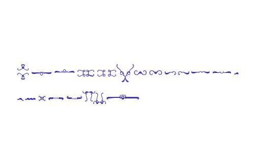 Wink Script Ornaments W90 Rg