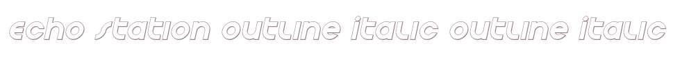 Echo Station Outline Italic