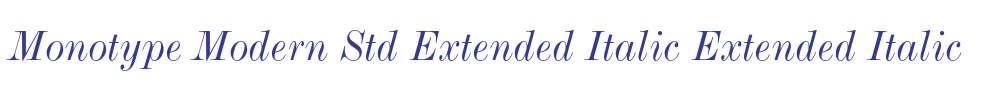 Monotype Modern Std Extended Italic
