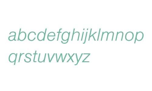 NimbusSanLLig W06 Italic