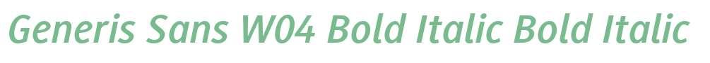 Generis Sans W04 Bold Italic