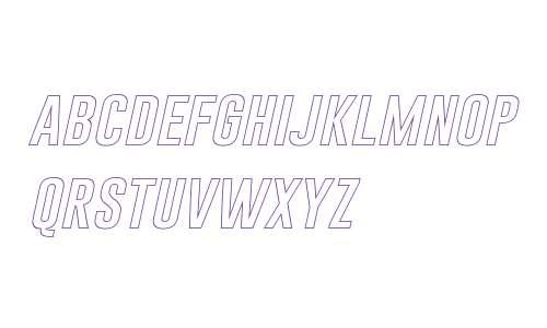 Gobold Hollow Italic Italic
