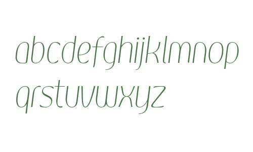 Kandira PERSONAL Thin Italic