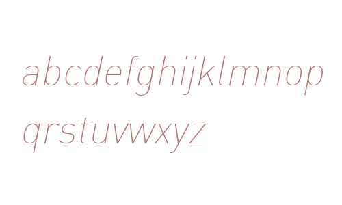 DIN Web W07 Thin Italic