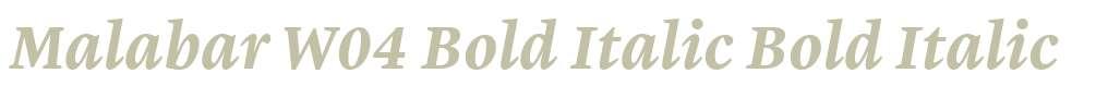 Malabar W04 Bold Italic