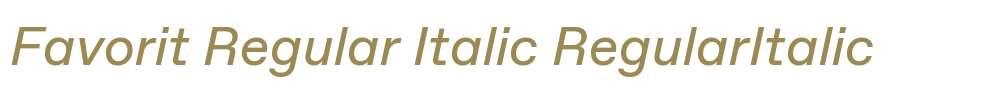 Favorit Regular Italic