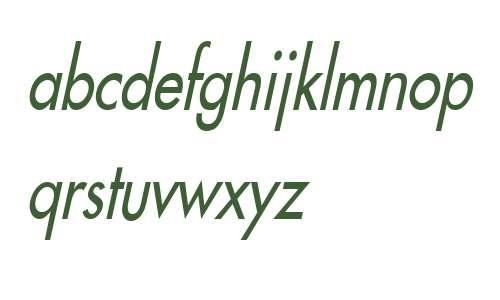 Fusi Condensed Italic