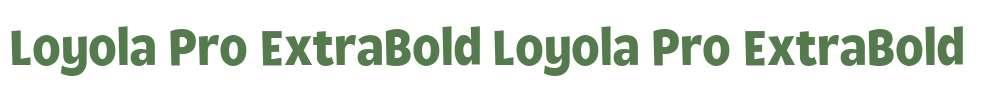 Loyola Pro ExtraBold