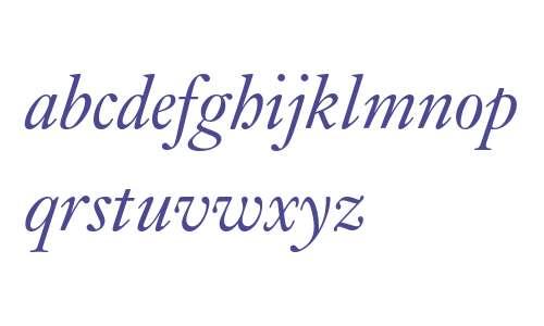 Kis Text BT Web Italic