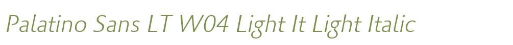 Palatino Sans LT W04 Light It