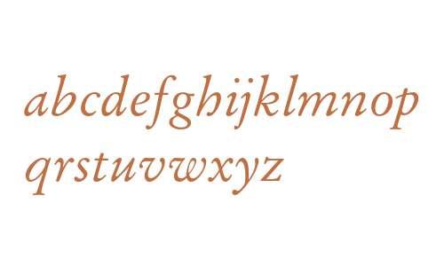 Stempel Garamond LT Pro Italic