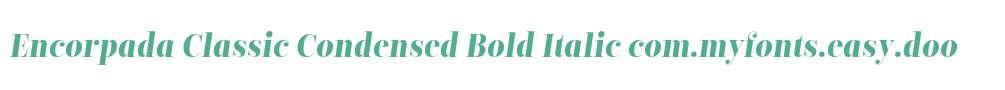 Encorpada Classic Condensed Bold Italic