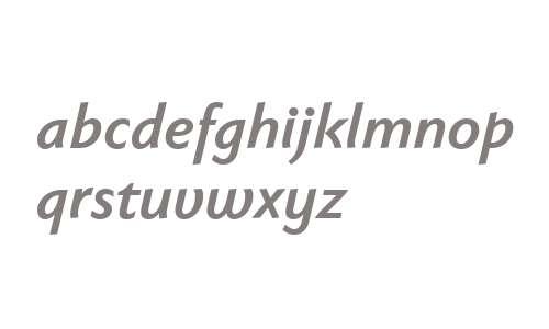 Faber Sans Pro 76 Halbfett Kursiv reduced