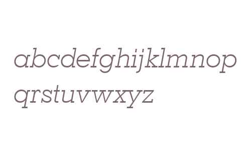 Geometric Slabserif 703 Light Italic BT