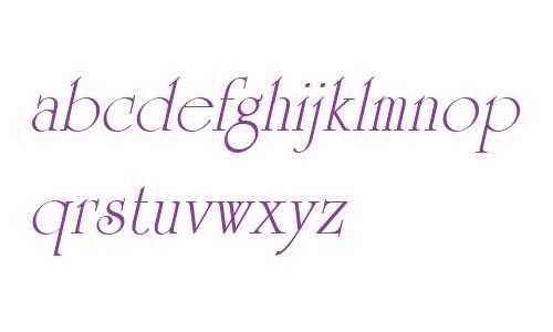 University Roman W01 Italic