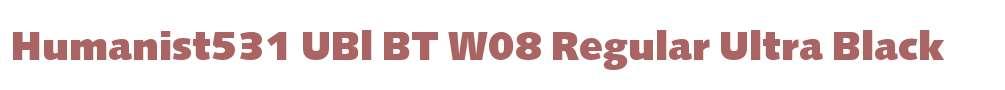 Humanist531 UBl BT W08 Regular