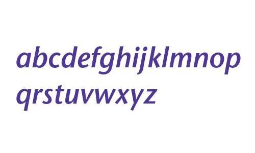 ITC Stone Sans LT Semibold Italic