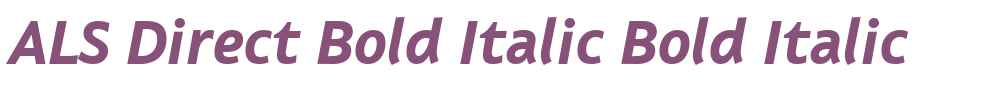ALS Direct Bold Italic
