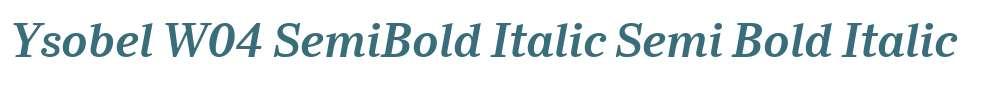 Ysobel W04 SemiBold Italic